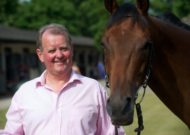 Racehorse trainer John Jenkins and horse